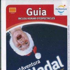 Foglietti di turismo: FOLLETO GUIA PARQUE TEMATICO PORT AVENTURA NAVIDAD 2009 - CATALA (B). Lote 36528093