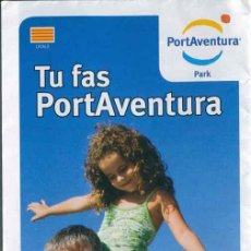 Folletos de turismo: FOLLETO GUIA PARQUE TEMATICO PORT AVENTURA 2008 - CATALA. Lote 116495682