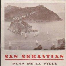 Folletos de turismo: SAN SEBASTIÁN.PLAN DE LA VILLE. 16 PÁGINAS CON MAPA.. Lote 36735218