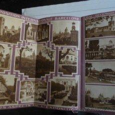 Folletos de turismo: EXPOSICIÓN INTERNACIONAL DE BARCELONA DE 1929. Lote 36744391