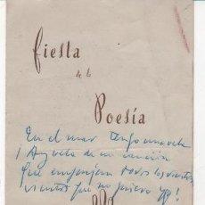 Folletos de turismo: FOLLETO CONCURSO DE POESÍA. FERIA DE SAN MIGUEL. ÚBEDA 1948. FIRMADA POR POETA. Lote 36999318