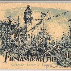 Folletos de turismo: VALENCIA 1956 GRAO FIESTAS DE LA CRUZ - FOLLETO ANTIGUO CON GRABADOS. Lote 221650271