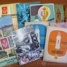 Folletos de turismo: LOTE DE 10 PROGRAMAS OFICALES DE LA FIESTA MAYOR DEL BARRIO DE LAS CORTS. BARCELONA.. Lote 36920767