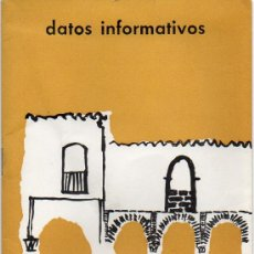 Folletos de turismo: DATOS INFORMATIVOS BADAJOZ - GUIA BADAJOZ 1965. Lote 36974632