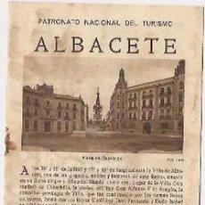 Folletos de turismo: ALBACETE. EPOCA DE LA II REPUBLICA. Lote 37038334