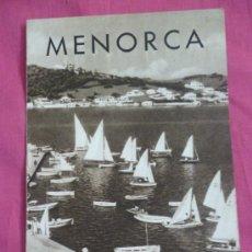 Folletos de turismo: MENORCA. Lote 37356723