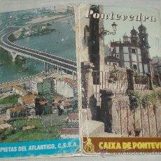 Folletos de turismo: FOLLETO ANTIGUO DE PONTEVEDRA CON MAPA. Lote 37518187