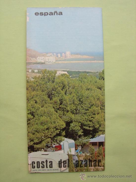 FOLLETO TURÍSTICO DESPLEGABLE COSTA AZAHAR (Coleccionismo - Folletos de Turismo)