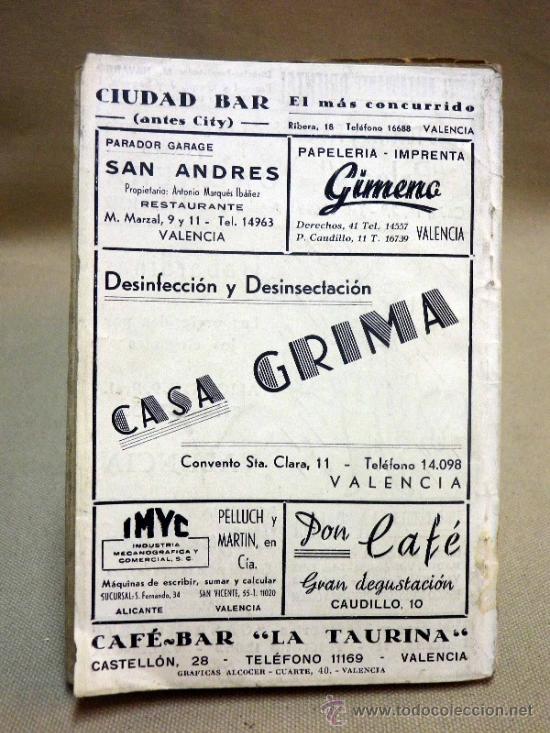Folletos de turismo: LA GUIA DE VALENCIA, EDITADA POR BAYARRI, 1946 - Foto 4 - 37778438