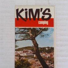 Folletos de turismo: ANTIGUA PUBLICIDAD CAMPING'S KIM'S LLAFRANCH AÑO 1970. Lote 39538984