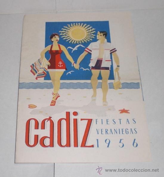 CADIZ - FIESTAS VERANIEGAS - 1956 (PROGRAMA DE LAS FIESTAS VERANIEGAS) (Coleccionismo - Folletos de Turismo)