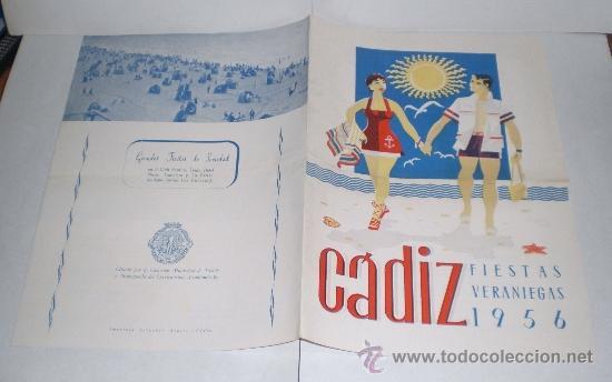 Folletos de turismo: CADIZ - Fiestas Veraniegas - 1956 (Programa de las Fiestas Veraniegas) - Foto 3 - 38225364