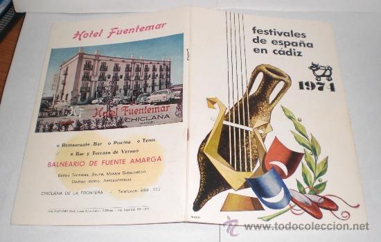 Folletos de turismo: Festivales de España en Cadiz - 1974 - Foto 7 - 38225613