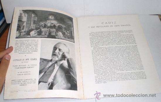 Folletos de turismo: Festivales de Arte Español - Cadiz 1964 - Foto 2 - 38225857