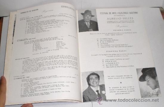 Folletos de turismo: Festivales de Arte Español - Cadiz 1964 - Foto 3 - 38225857
