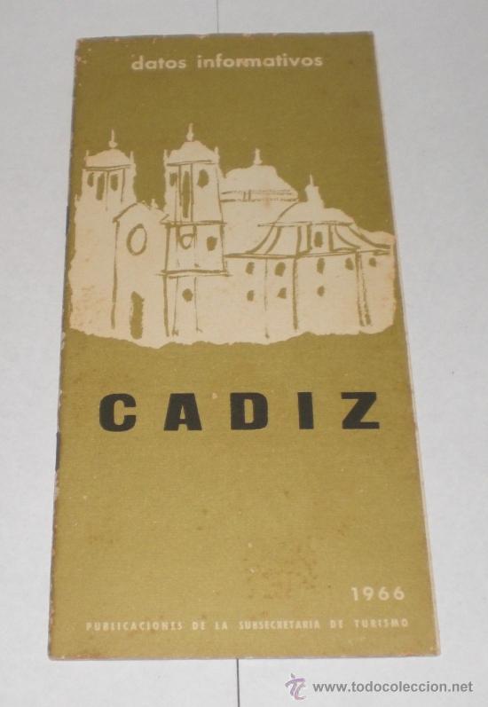 FOLLETO TURÍSTICO DE CADIZ - 1966 (CON 2 MAPAS) (Coleccionismo - Folletos de Turismo)