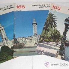 Folletos de turismo: CAMINOS DE ESPAÑA - CADIZ (I, II Y III), AÑOS 50 (CON FOTOGRAFÍAS EN SU INTERIOR). Lote 38241623