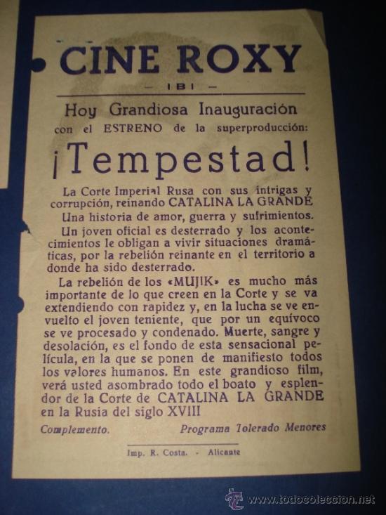 Folletos de turismo: Folleto , Saluda y Programa de Inauguración del Cine ROXY de IBI Septiembre 1961 - Foto 3 - 38655582