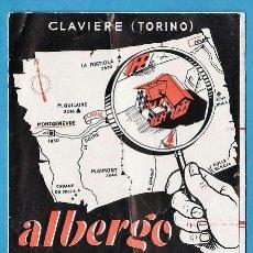 Folletos de turismo: FOLLETO - ALBERGUE TORINO / CLAVIERE - ITALIA - EN ITALIANO - AÑOS 60 - RD11. Lote 38895316
