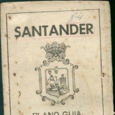 Folletos de turismo: FOLLETO TURÍSTICO DE SANTANDER. PLANO GUÍA DE LA CAPITAL, DESPLEGABLE.. Lote 39040610
