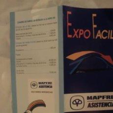 Folletos de turismo: EXPO 92 FOLLETO EDITADO POR MAFRE PARA LA EXPO. Lote 39062225