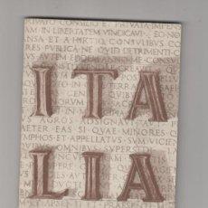 Folletos de turismo: FOLLETO DE TURISMO TURISTICO VIAJE ITALIA AÑO 1957. Lote 39065216