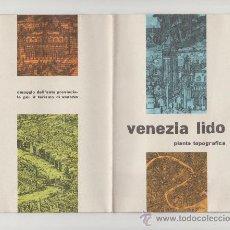 Folletos de turismo: FOLLETO DE TURISMO TURISTICO VIAJE ITALIA VENEZIA LIDO AÑO 1960. Lote 39080002