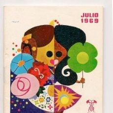 Folletos de turismo: PROGRAMA OFICIAL GRAN FERIA DE VALENCIA 1969 - ORIGINAL. Lote 39086570