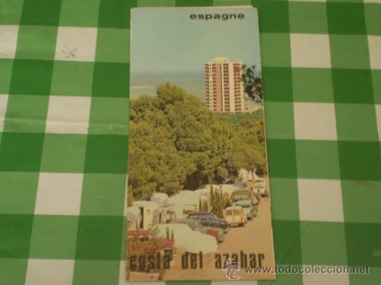 ANTIGUO FOLLETO TURISTICO,COSTA DE AZAHAR,EN FRANCES,AÑOS 60 (Coleccionismo - Folletos de Turismo)