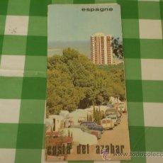 Folletos de turismo: ANTIGUO FOLLETO TURISTICO,COSTA DE AZAHAR,EN FRANCES,AÑOS 60. Lote 39288746