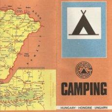 Folletos de turismo: FOLLETO TURÍSTICO HUNGRIA, CAMPING. Lote 39511629