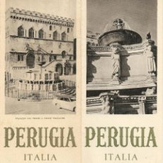 Folletos de turismo: FOLLETO TURÍSTICO PERUGIA-ITALIA, DESPLEGABLE. Lote 39534329
