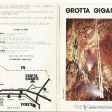 Folletos de turismo: == RR167 - GROTTA GIGANTE - TRIESTE - ITALY. Lote 39801825
