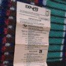 Folletos de turismo: HOJA FOLLETO PROGRAMA DIARIO EXPO 1992 92 SEVILLA DIA 26 JULIO VISITA JEFES ESTADO DIFICIL RARO. Lote 40002771