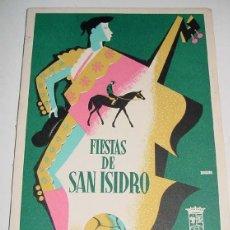 Folletos de turismo: PROGRAMA OFICIAL DE LAS FIESTAS DE SAN ISIDRO DE MADRID DE 1962, PUBLICADO POR EL AYUNTAMIENTO DE MA. Lote 38243721