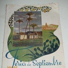 Folletos de turismo: ANTIGUA REVISTA PROGRAMA OFICIAL DE LA FERIA DE SEPTIEMBRE - MURCIA 1946 - CON MUCHISIMAS FOTOGRAFIA. Lote 38266828