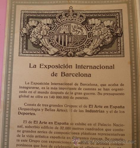 Folletos de turismo: FOLLETO DESPLEGABLE DE LA EXPOSICIÓN INTERNACIONAL BARCELONA 1929 - Foto 4 - 40262937