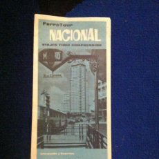 Folletos de turismo: FOLLETO DESPLEGABLE FERROTOUR NACIONAL. TRAYECTOS EN TREN A DISTINTAS CIDUDADES ESPAÑOLAS.. Lote 40746191