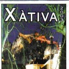 Folletos de turismo: 2003 TURISMO VALENCIA CALLEJERO XÁTIVA. Lote 40955290