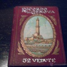 Folletos de turismo: CUADERNO DE FOTOS DE GENOVA (ITALIA) -RECUERDO 32 VISTAS, PLANO CIUDAD- PRINCIPIOS S.XX. Lote 41037579