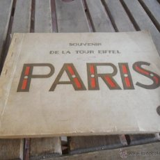 Folletos de turismo: ALBUM SOUVENIR DE LA TORRE EIFFEL PARIS FORMATO GRANDE 20 VISTAS PRINCIPIO DEL SIGLO XX. Lote 41288305
