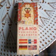 Folletos de turismo: PLANO TURISTICO DE VALENCIA MONUMENTOS MUSEOS Y EXCURSIONES ,1968. Lote 41303172