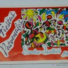 Folletos de turismo: FOLLETO. SANTA ISABEL (GUINEA ESPAÑOLA). FIESTAS PATRONALES. 1962 - GUINEA ESPAÑOLA - PROGRAMA DE L. Lote 41416254