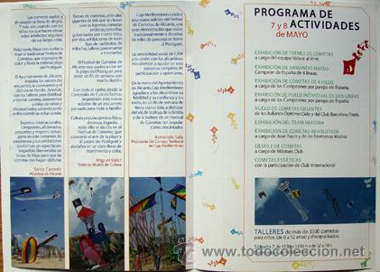 Folletos de turismo: XV Festival de cometas Alicante playa Postiguet programa año 2011-ver foto adicional - Foto 2 - 41518592
