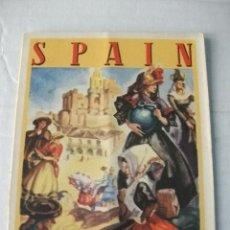 Folletos de turismo: FOLLETO TURÍSTICO SPAIN – TEXTO EN INGLÉS – DIBUJOS DE MORELL. Lote 41711647
