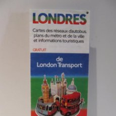 Folletos de turismo: FOLLETO DESPLEGABLE PLANO URBANO LONDRES 1983 AUTOBUS METRO INFORMACION TURISTICA. Lote 42114258