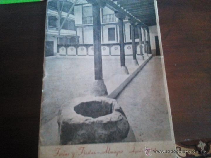 PROGRAMA FERIAS Y FIESTAS DE ALMAGRO CIUDAD REAL , 1954 (Coleccionismo - Folletos de Turismo)