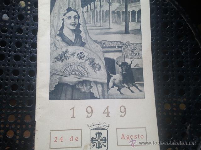 ALMAGRO PROGRAMA OFICIAL DE FERIAS Y FIESTAS DE SAN BARTOLOME - AÑO 1949 (Coleccionismo - Folletos de Turismo)