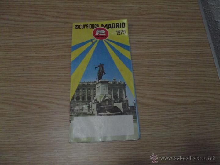 EXCURSIONES MADRID 1979 PULLMANTUR (Coleccionismo - Folletos de Turismo)