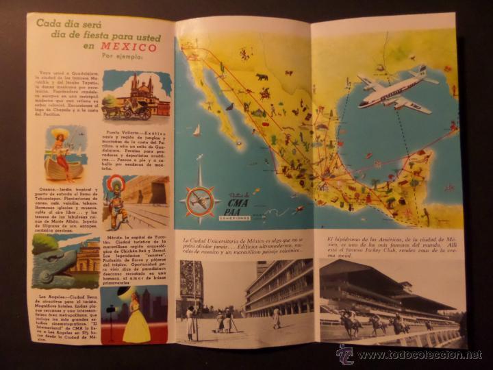 Folletos de turismo: Folleto Su Fiesta en Mexico, Pan American World Airways. Años 50. Ver fotografias - Foto 2 - 42287957
